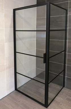 Framed Corner Pivot Door Shower Screen