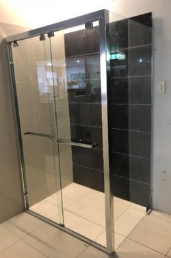 Marini-L Semi Frame-less Corner Sliding Door Shower Screen