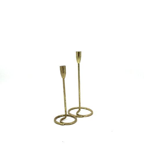 Kaarsenhouders goud, set van 2