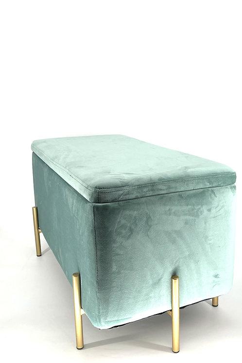 Velvet bankje turquoise