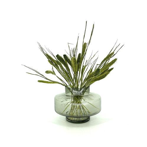 Vaas rookglas (incl groene takken)