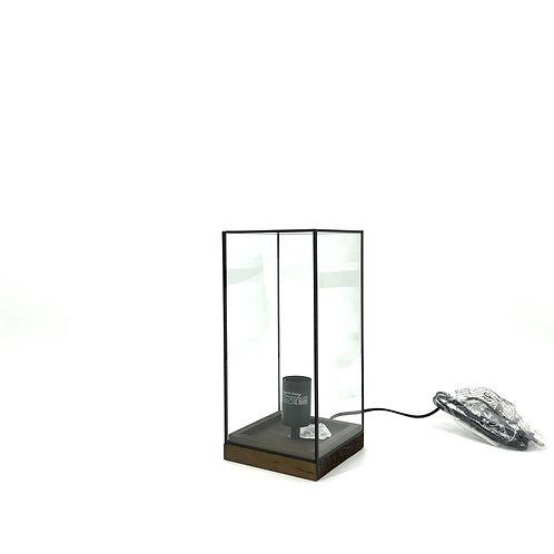 Glazen lamp, strak design