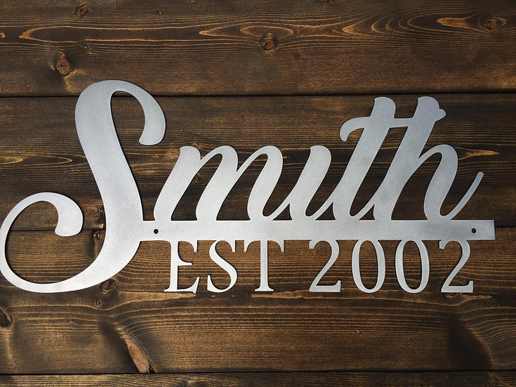 """Personalized Family Last Name """"The Smith Sign"""""""
