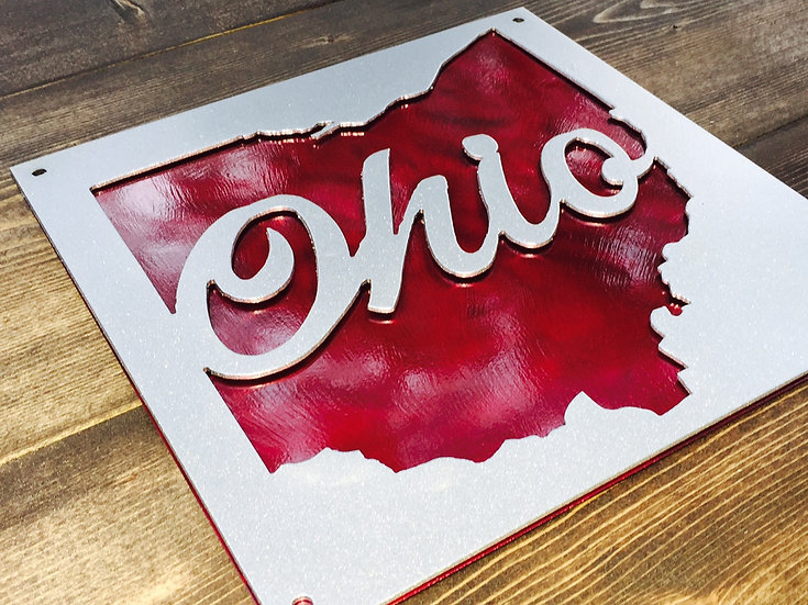 State of Ohio Double Layered Sign