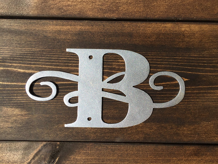 """B"" Small Flourished Letter"