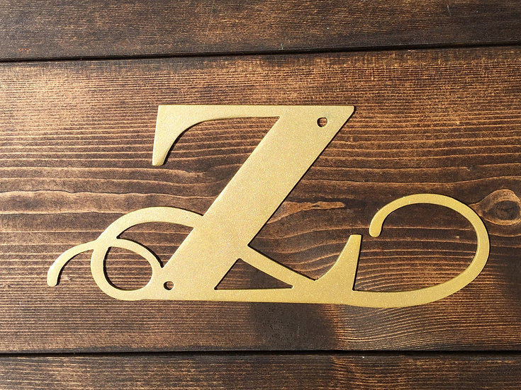 """Z"" Medium Flourished Letter"