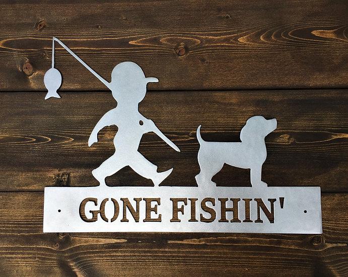 A Boy & His Dog Gone Fishin'