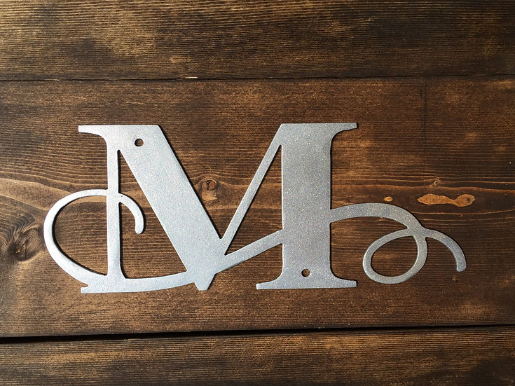 """M"" Small Flourished Letter"