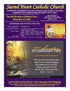 2020-1115 Sacred Heart Bulletin ONLINE_P