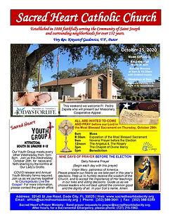 2020-1025 Sacred Heart Bulletin ONLINE_P