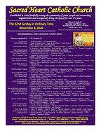 2020-1108 Sacred Heart Bulletin ONLINE_P