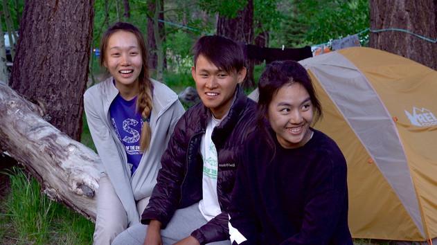 Singapore students studying at Mono Lake, California