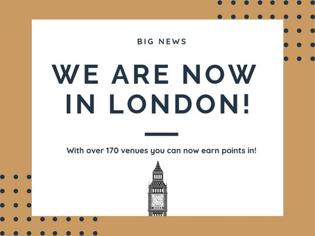 Over 170 venues in London now on LUX Rewards!