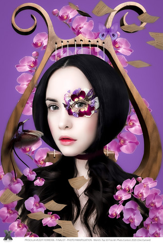 Finalist (Photo Manipulation) Fill My Heart With Song Woman Harp