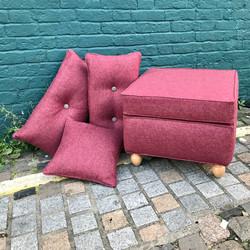 Footstool & cushions