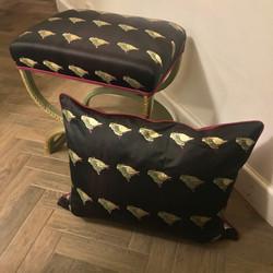 Footstool & cushion
