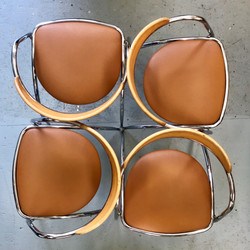Chrome dining chairs