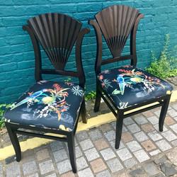 Deco fan chairs