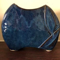 Shades of Blue Vase, side 2