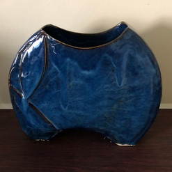 Shades of Blue Vase, side 1