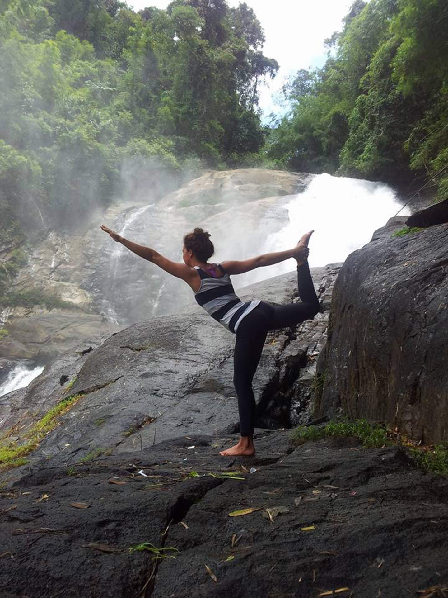 Yoga at the local Waterfall