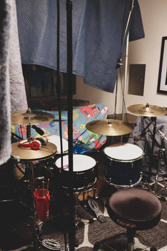 Drums recording session