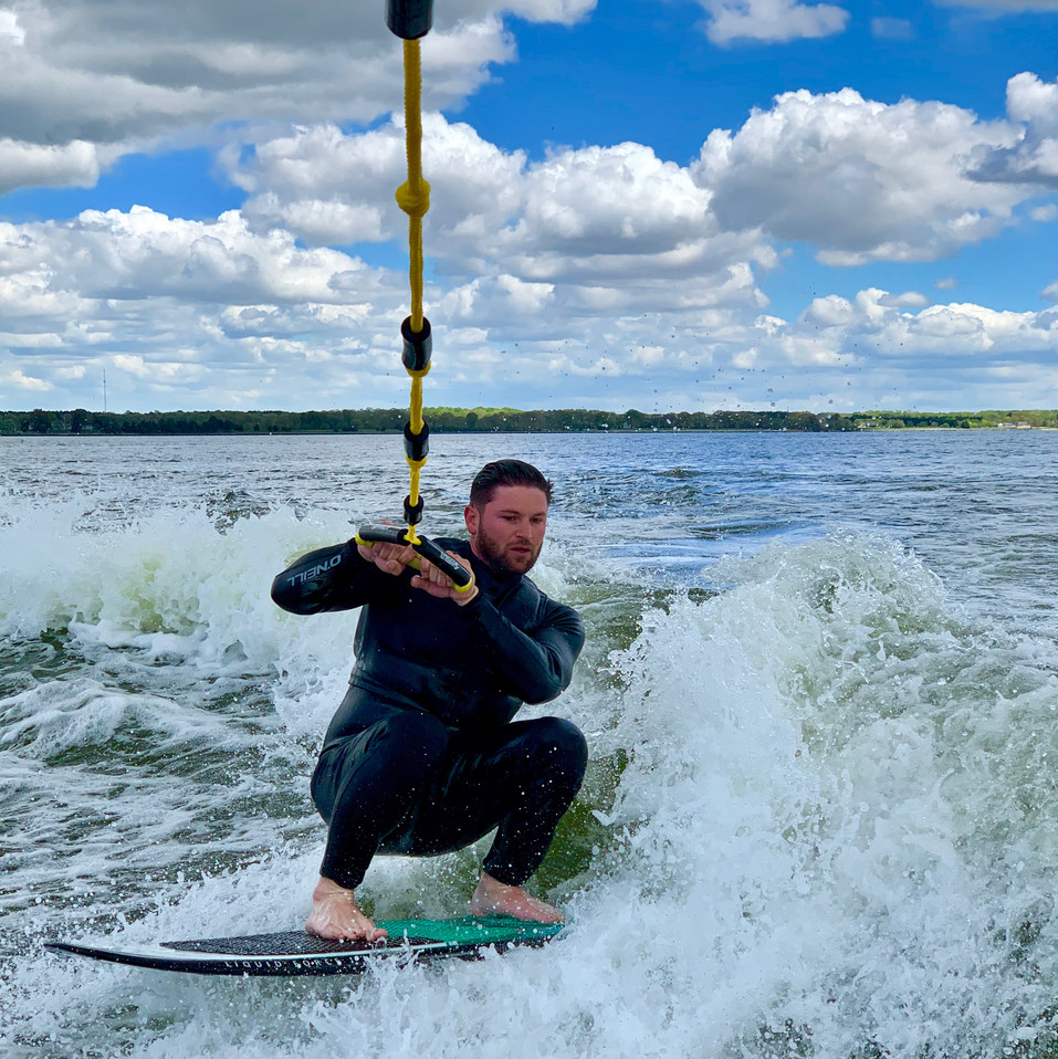 Adam Wakesurfing
