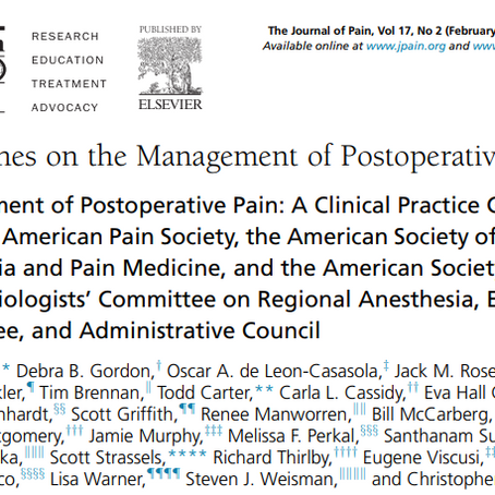 All You Need To Know about Postoperative Pain