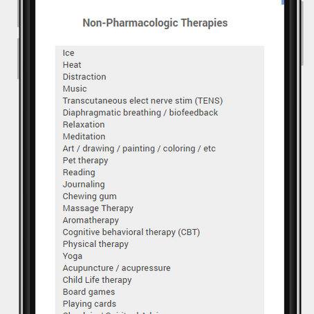 Non-pharmacologic Strategies for Pain Management