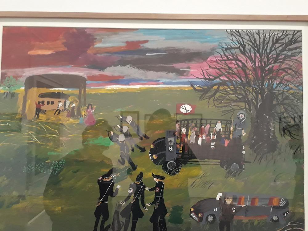 ציור של צ'יה סטויקה שואת הצוענים מוזיאון ריינה סופיה מדריד צילום: אושרת אביחצירה פרזם