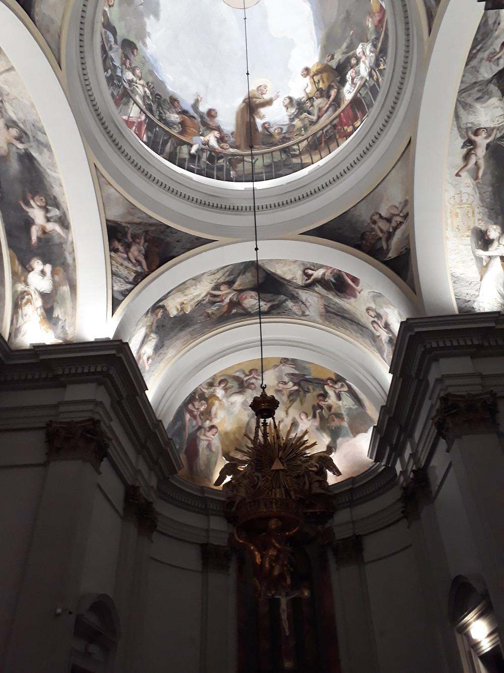 הפרסקו של גויה בכנסיית סן אנטוניו לה פלורידה במדריד צילום: אושרת אביחצירה פרזם