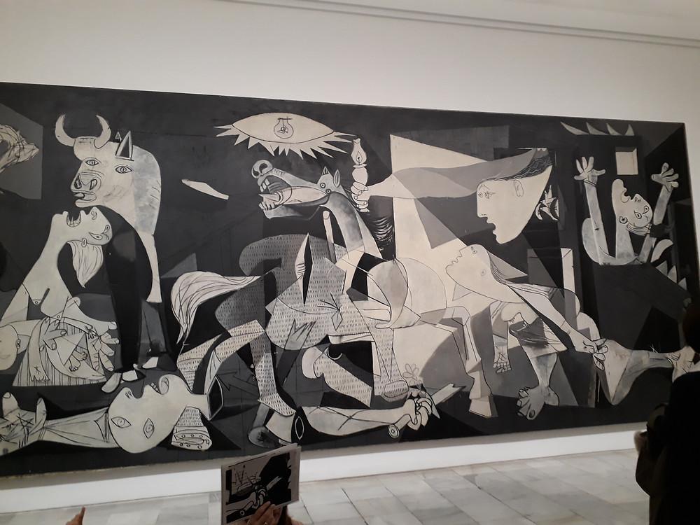 גרניקה של פיקאסו מוזיאון ריינה סופיה מדריד צילום: אושרת אביחצירה פרזם