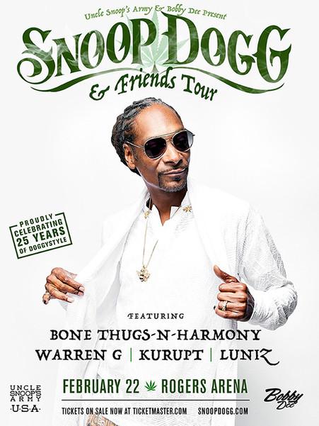 Snoop Dogg & Friends Tour 2018