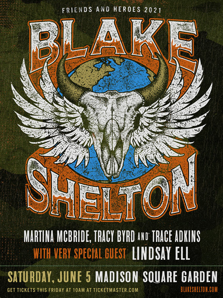 Blake Shelton - Friends and Heroes 2021 Tour