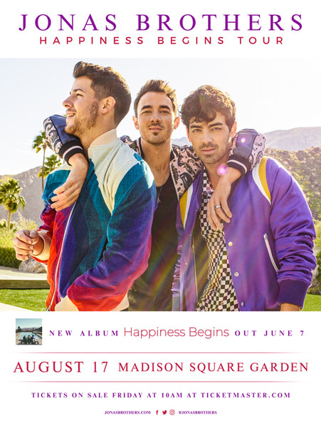 Jonas Brothers - Happiness Begins Tour 2019
