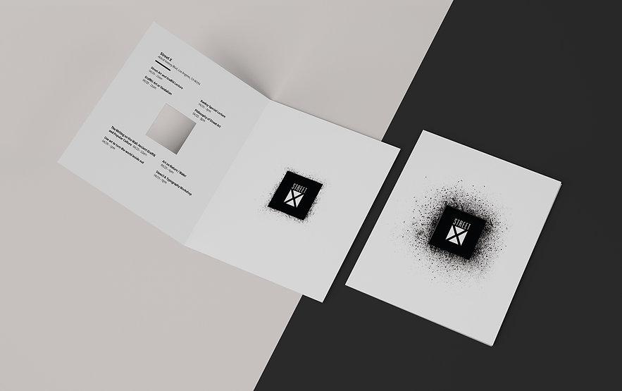 Print brochure mockup