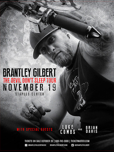 Brantley Gilbert 2016 Tour