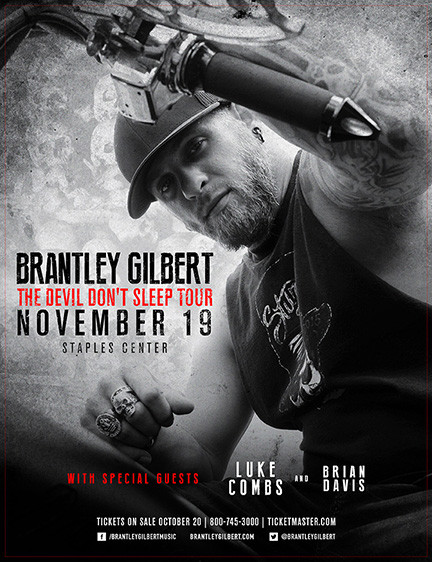 Brantley Gilbert 2016 Tour