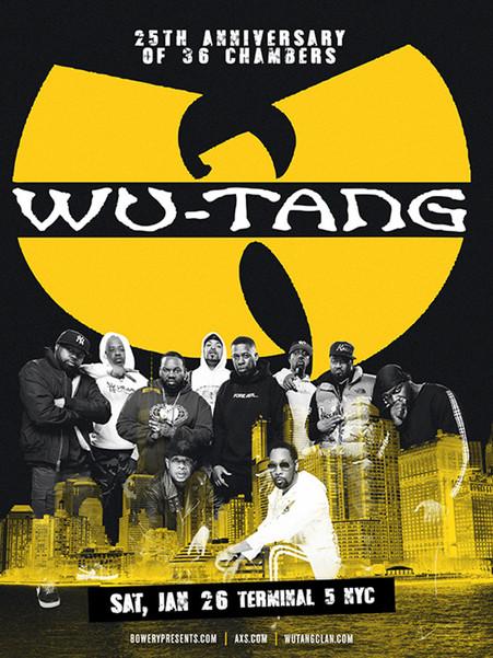 Wu-Tang Clan - 36 Chambers Anniversary Tour 2018