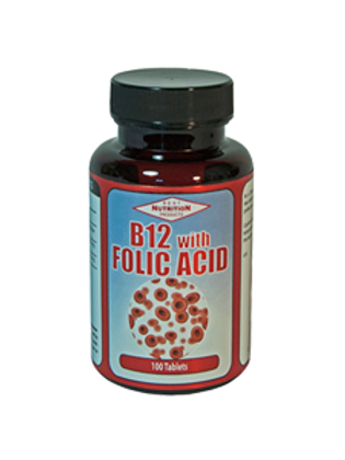 B12 with Folic Acid 100 tabs 1mg / 100mcg