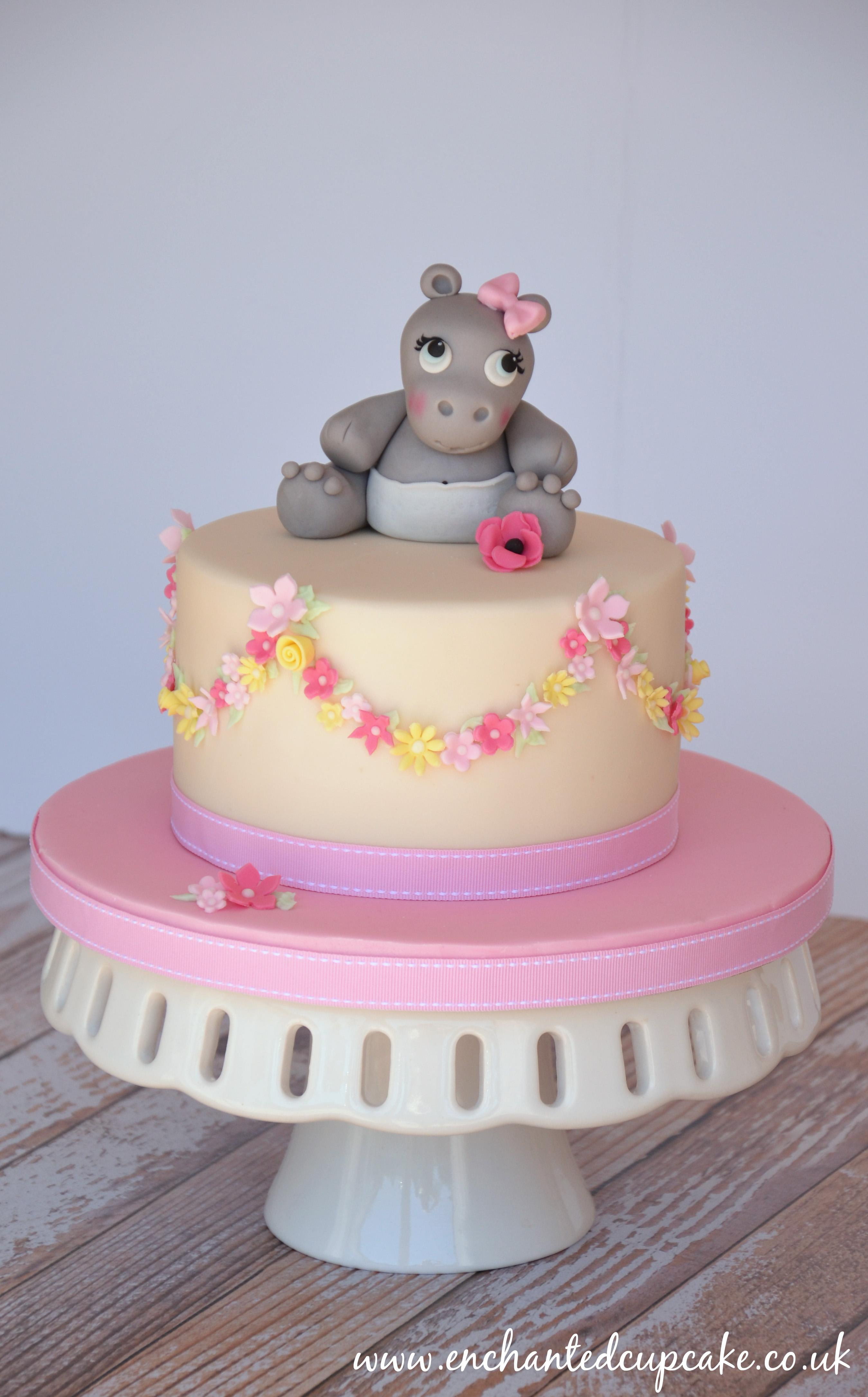 Hippo Baby Shower Cake