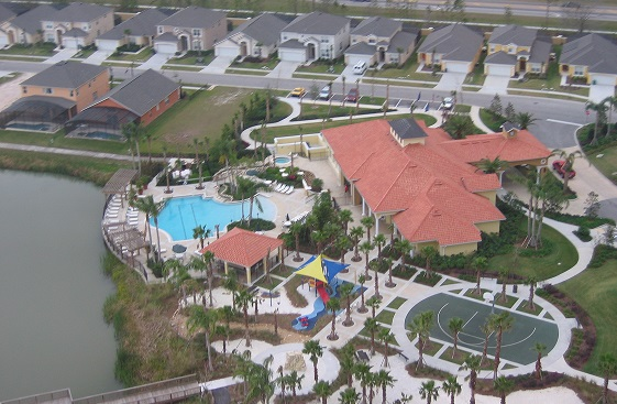 Aerial view of resort