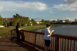 Fishing off the resort walkway
