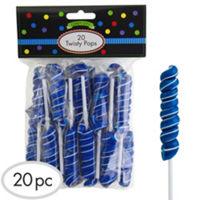 Royal Blue Twisty Lollipops