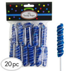 Royal Blue Twisty Lollipops