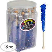 Royal Blue Rock Candy Sticks