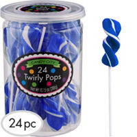 Twirly Royal Blue Lollipops