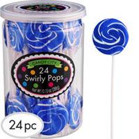Royal Blue Swirly Lollipops