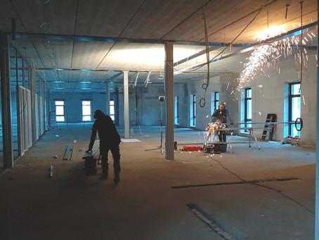 Opbouw binnenzijde gestart