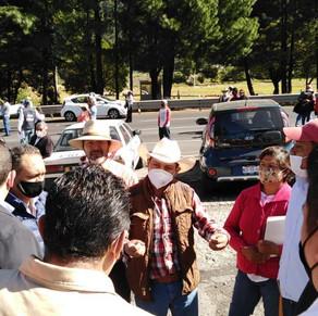 Liberan caseta de peaje en Tepotzotlán en la autopista México-Querétaro